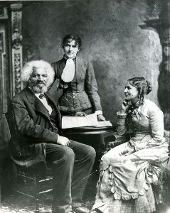 Frederick Douglass with his second wife Helen Pitts and daughter Eva.