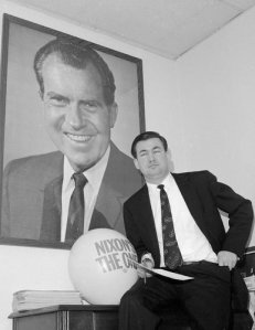A young Pat Buchanan, advisor to the 1968 Nixon campaign.