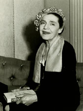 Fannie Hurst in the late 1950s, after her peak in popularity